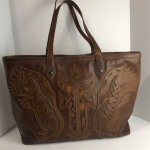 FRYE Leather Large Tote Bag